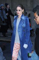 DOUTZEN KROES Leaves Michael Kors Fashion Show in New York 02/13/2019