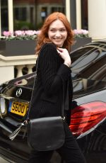 ELEANOR TOMLINSON Leaves Connaught Hotel in London 02/06/2019