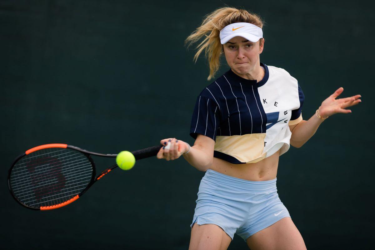 ELINA SVITOLINA Practises at 2019 Dubai Duty Free Tennis ...