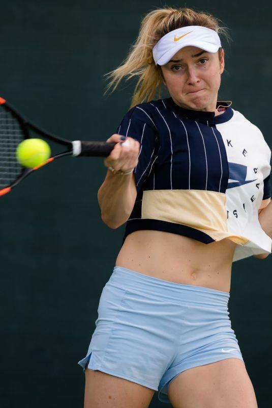 ELINA SVITOLINA Practises at 2019 Dubai Duty Free Tennis WTA Championships in Dubai 02/18/2019
