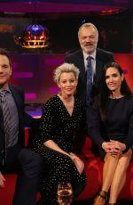 ELIZABETH BANKS and JENNIFER CONNELLY at Graham Norton Show in London 01/31/2019