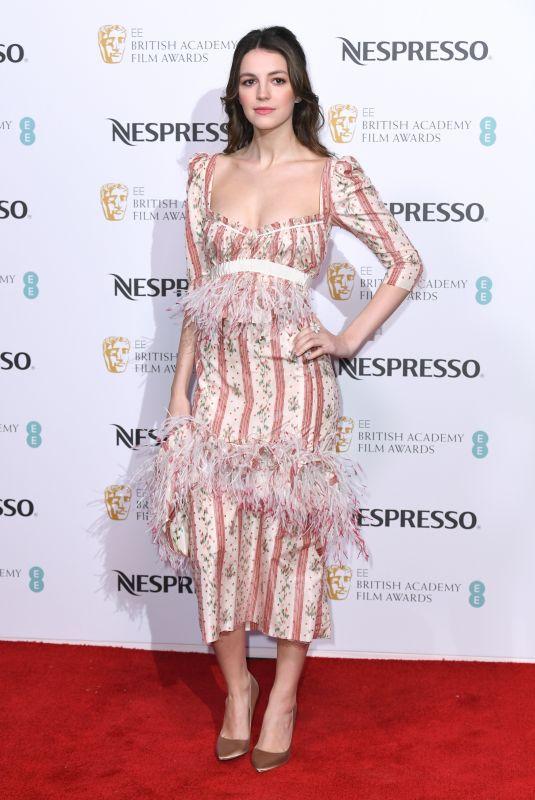 ELLA HUNT at Nespresso BAFTA Nominees Party in London 02/09/2019