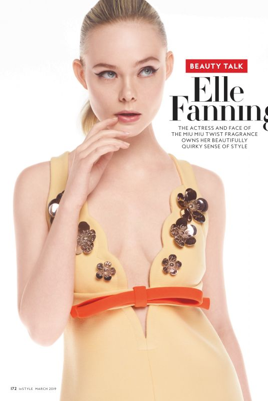 ELLE FANNING in Instyle Magazine, March 2019
