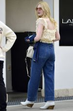 ELLE FANNING Out Shopping in Beverly Hills 02/27/2019