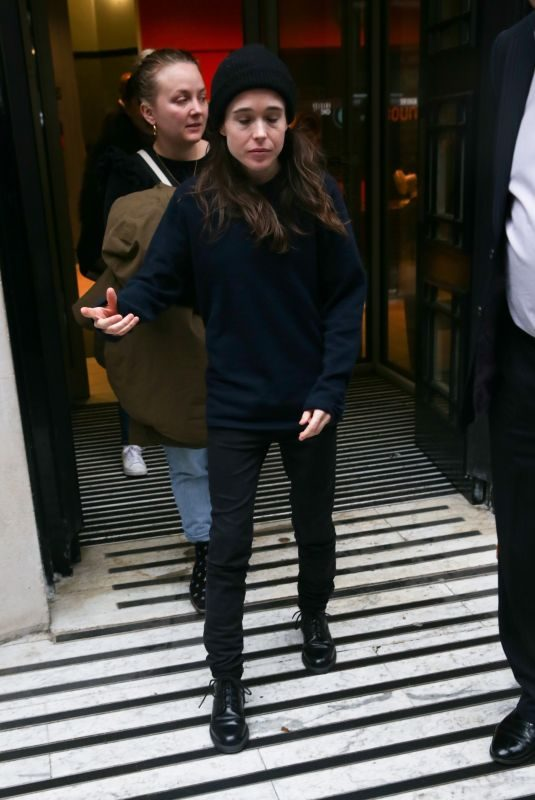 ELLEN PAGE Arrives at BBC Studios in London 02/08/2019