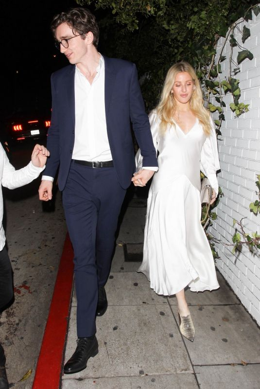 ELLIE GOULDING and Caspar Jopling at Chateau Marmont in West Hollywood 02/14/2019