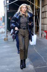 ELSA HOSK Out at New York Fashion Week 02/04/2019