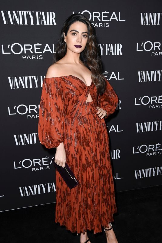 EMERAUDE TOUBIA at Vanity Fair & L'Oreal Paris Celebrate New Hollywood in Los Angeles 02/19/2019
