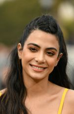 EMERAUDE TOUBIA on the Set of Extra at Universal Studios 02/27/2019