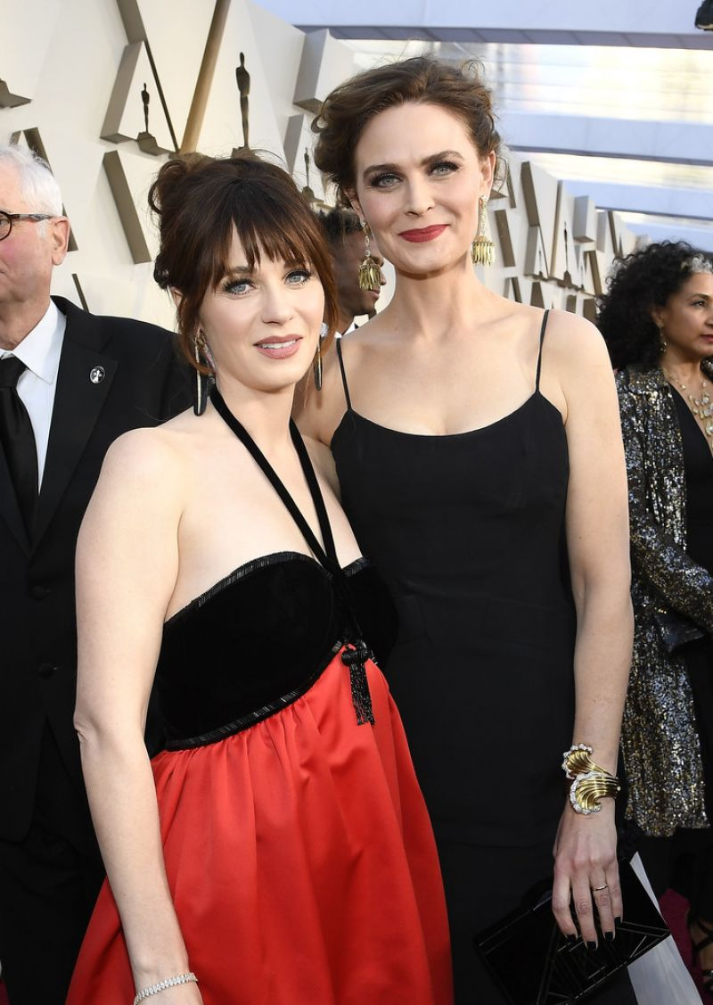 EMILY and ZOOEY DESCHANEL at Oscars 2019 in Los Angeles 02