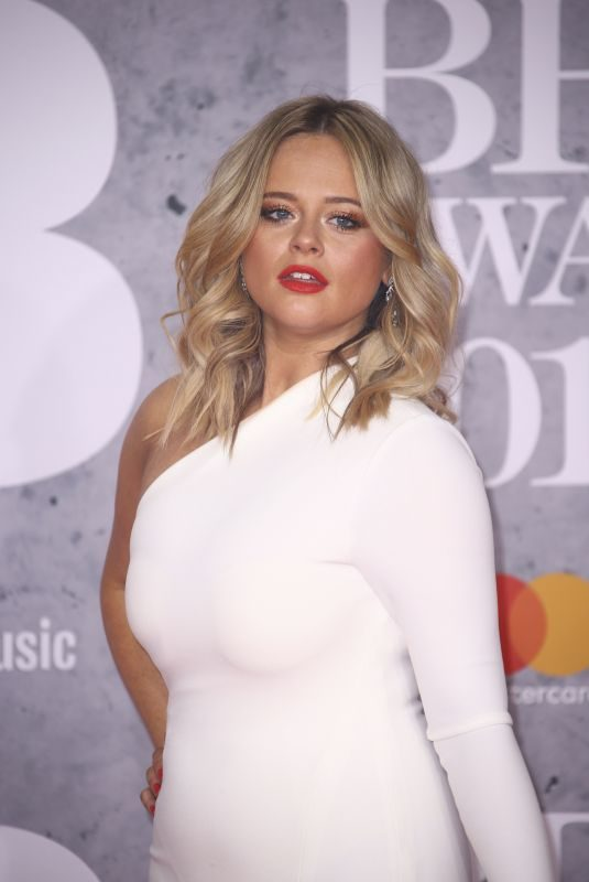 EMILY ATACK at Brit Awards 2019 in London 02/20/2019