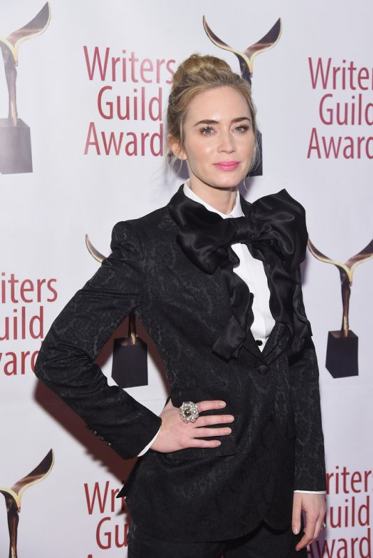 EMILY BLUNT at Writers Guild Awards in Los Angles 02/17/2019