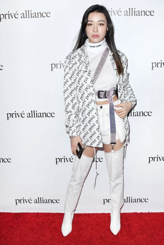 EMILY MEI at Prive Alliance LA's Fashion Presentation in Los Angeles 02/26/2019