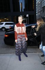 EMMA ROBERTS Arrives at Longchamp Fashion Show in New York 02/09/2019