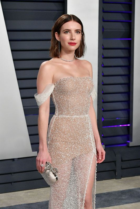 EMMA ROBERTS at Vanity Fair Oscar Party in Beverly Hills 02/24/2019