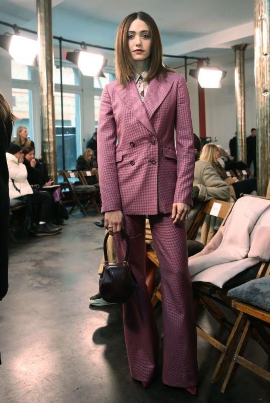 EMMY ROSSUM at Gabriela Hearst Show at New York Fashion Week 02/12/2019