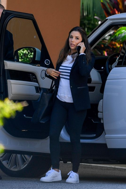 EVA LONGORIA Arrives at a Hotel in Beverly Hills 02/22/2019