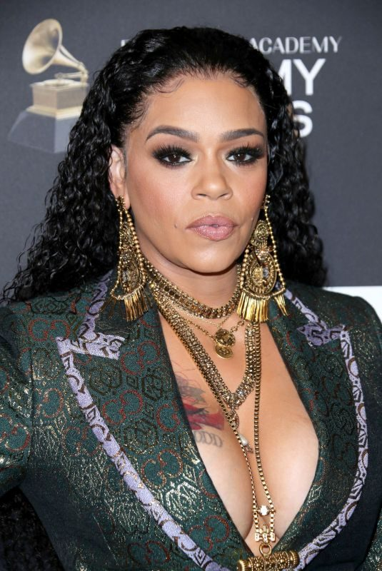 FAITH EVANS at Clive Davis Pre-grammy Gala in Los Angeles 02/09/2019