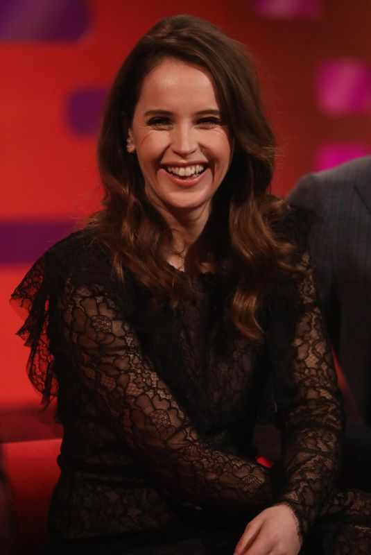 FELICITY JONES at Graham Norton Show in London 02/14/2019