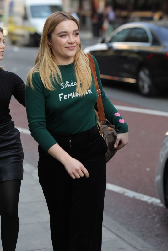 FLORENCE PUGH Out and About in London 02/26/2019