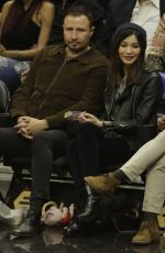 GEMMA CHAN at LA Lakers vs Clippers Game at Staples Center 01/31/2019