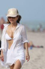 GIADA DE LAURENTIIS in a White Bikini Top at a Beach in Miami 02/22/2019