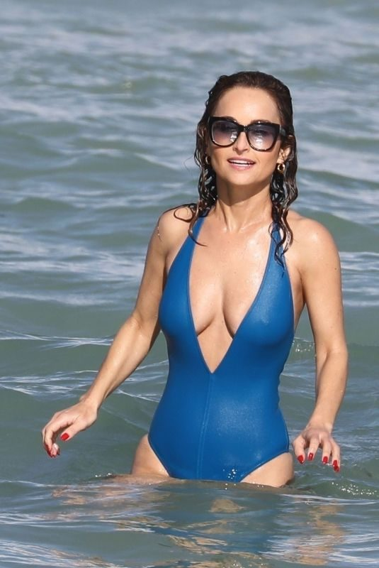 GIADA DE LAURENTIIS in Swimsuit at a Beach in Miami 02/21/2019