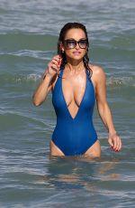 GIADA DE LAURENTIIS in Swimsuit at a Beach in Miami 02/21/2019