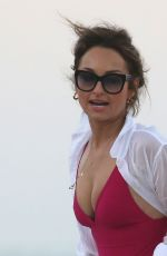 GIADA DE LAURENTIIS in Swimsuit on the Beach in Miami 02/20/2019