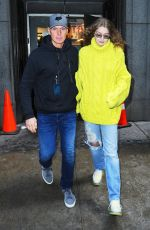 GIGI HADID Leaves Michael Kors Fashion Show in New York 02/13/2019