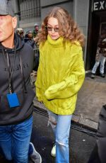 GIGI HADID Leaves Michael Kors Show at New York Fashion Week 02/13/2019