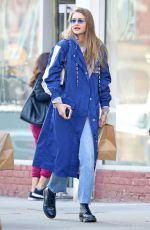 GIGI HADID Out and About in New York 02/03/2019