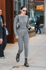 GIGI HADID Out in New York 02/05/2019