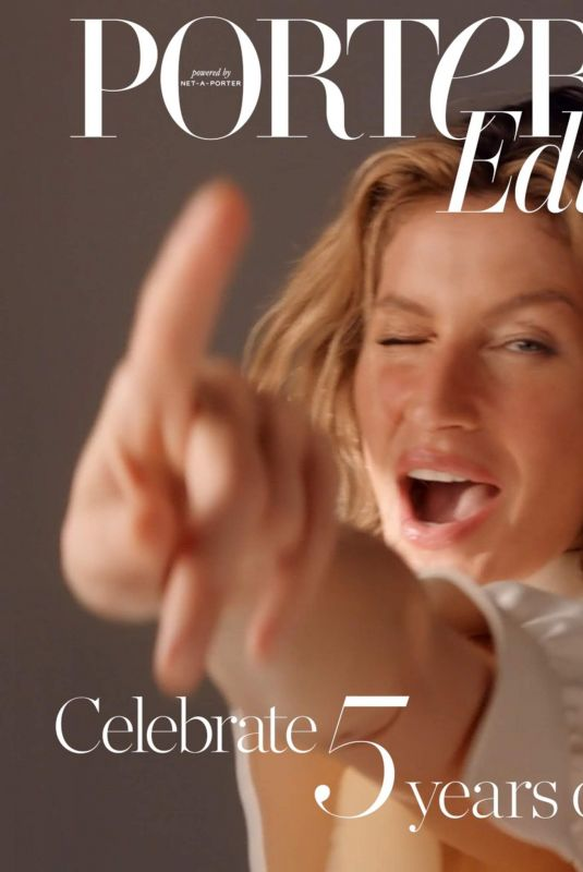 GISELE BUNDCHEN for Porteredit, February 2019