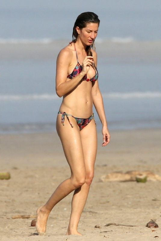 GISELE BUNDCHEN in Bikini at a Beach in Costa Rica 02/14/2019
