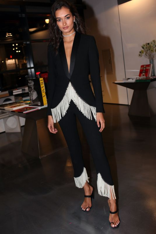 GIZELE OLIVEIRA at Franca Chaos and Creation Book Launch at New York Fashion Week 02/11/2019