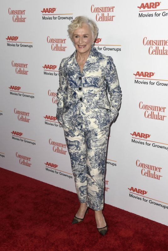GLENN CLOSE at Aarp the Magazine's Movies for Grownups Awards in Beverly Hills 02/04/2019