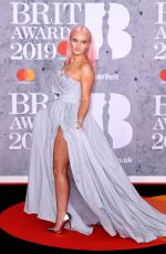 GRACE CHATTO at Brit Awards 2019 in London 02/20/2019