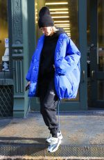 HAILEY BIEBER Out in New York 01/28/2019