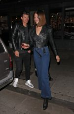 HAILEY CLAUSON and Jullien Herrera Night Out in West Hollywood 02/09/2019