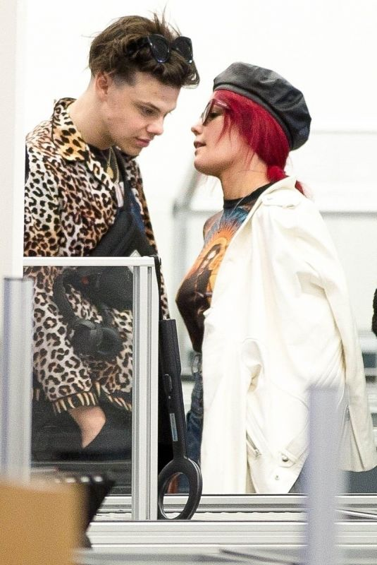 HALSEY and Yungblud at Airport in Adelaide 02/13/2019