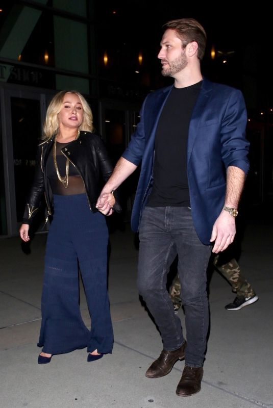 HAYDEN PANETTIERE and Brian Hickerson Night Out in Hollywood 01/31/2019