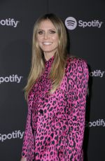 HEIDI KLUM at Spotify Best New Artist 2019 in Los Angeles 02/07/2019