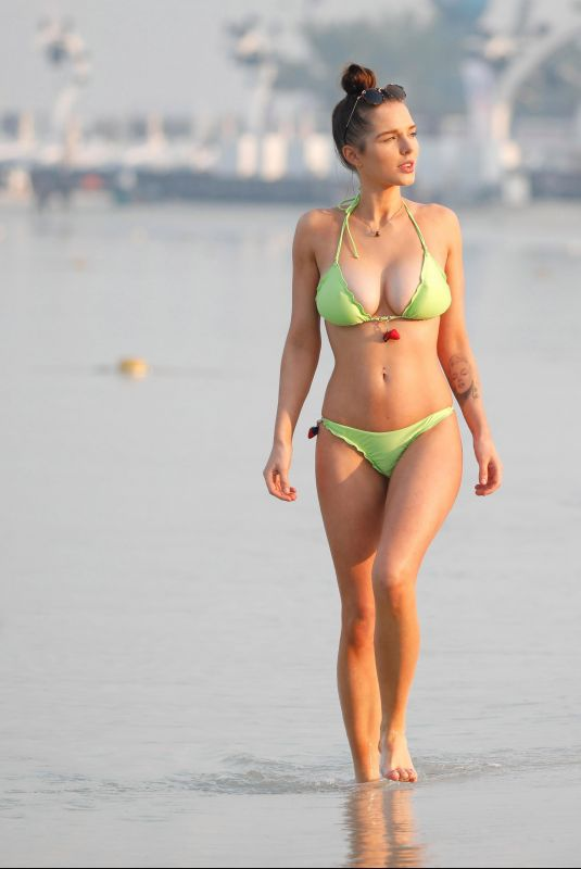 HELEN FLANAGAN in Bikini at a Beach in Dubai 01/05/2019