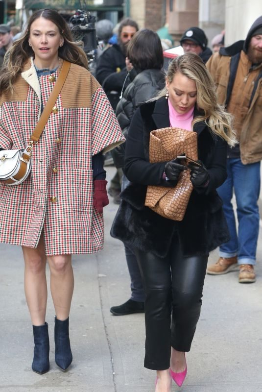 HILARY DUFF and SUTTON FOSTER on the Set of Younger in New York 02/26/2019