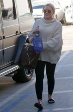 HILARY DUFF Leaves Alfred Coffee in West Hollywood 02/11/2019