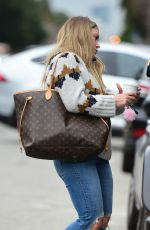 HILARY DUFF Out for Coffee in Sherman Oaks 02/13/2019