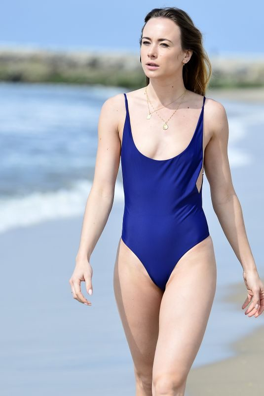 IMOGEN LEAVER in Swimsuit at Venice Beach 02/26/2019