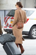 IRINA SHAYK at JFK Airport in New York 02/12/2019