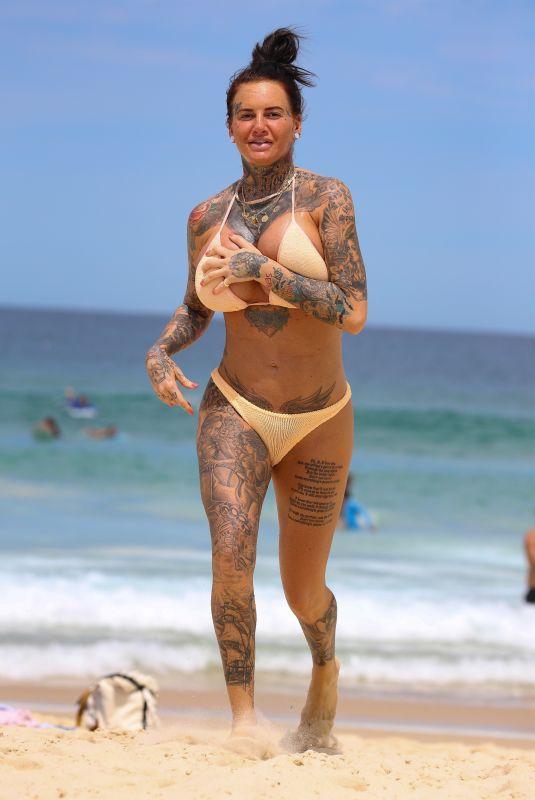 JEMMA LUCY in Bikini on Bondi Beach in Sydney 02/26/2019